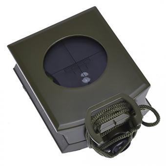 RUNACC Kompass Multifunktionale Taschenkompass mit Farbverlauf Messung Leicht Survival Kompass für Wandern, Klettern und Outdoor (Armee Grün)