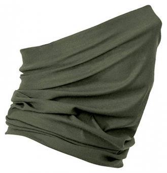 Schlauchschal aus Mikrofaser | Schlauchtuch | Halstuch | Bandana | Multifunktionstuch | Kopftuch | vielseitig und in verschiedenen Farben (Olive Green)