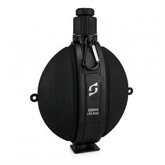 SMARDY Premium Outdoor Feldflasche Wasserflasche Trinkflasche - Bundeswehr, Militär, US Army Style mit Kompass – BPA frei – Farbe schwarz